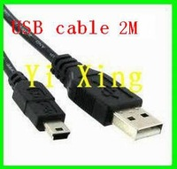 Free shipping 2M mini usb cable 100pcs/lot