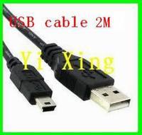 Free shipping 2M mini usb cable 100pcs/lot