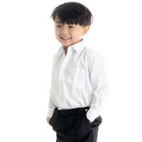 Graduation photo clothes child white long-sleeve shirt boys clothing white shirt