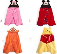 Lucky cartoon style with a hood towel child 100% cotton bathrobes 35