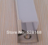 NS-P038 Free shipping 55m/lot anodized aluminium slimline corner led profile led EXTRUSION FROSTED COVER, end caps and clips