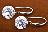 Latest design 1 pair 10x25mm 925 Sterling Silver Earrings Hot selling Drop Earrings Fashion jewelry  wholesale GNE0004-10