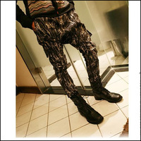 Free Shipping 2013 men's fashion Fashion trend of fashion male clothes personality serpentine pattern harem pants male