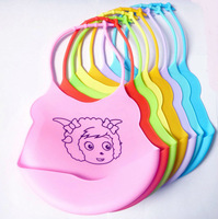 50 pcs/lot kids baby bibs silicone Waterproof bibs carters cartoon bib With pocket for baby boys and girls
