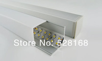 NS-P047 Free shipping by Fedex MOQ 20m NEW DESIGN aluminium corner led strip HOUSING  light profile with PMMA cover, end caps