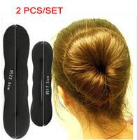 2 Pcs/Set Free Shipping Simple Hair Styling Sponge Hair Bud Hair Maker Stick Hair Maker Tools