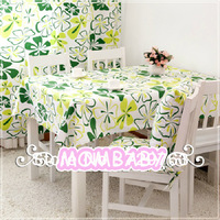 2013 New High Quality Idyllic Cotton Print Flower Canvas Table Cloth Cover Variety Of Optional Specifications