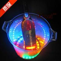 Thick acrylic ice-pail luminous colorful led 30 ice-pail big flash