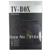 free shipping  auxtek AT-01 Android 4.2 Allwinner A20 8GB Mini PC Android TV Box Built-in microphone and camera  mini pc