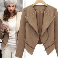 Free Shipping 2013 Newest woman slim jacket winter woolen coat for woman  c30626