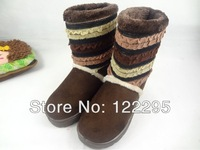 Free shipping 2013 new winter snow boots for women / in-tube warm shoes / boots cotton boots goatskin