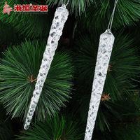 Christmas tree 15x1cm white acrylic icicle 6 35g