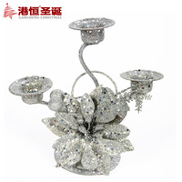 Christmas countertop dining table 15 16cm silver christmas mousse christmas candle holder 80g
