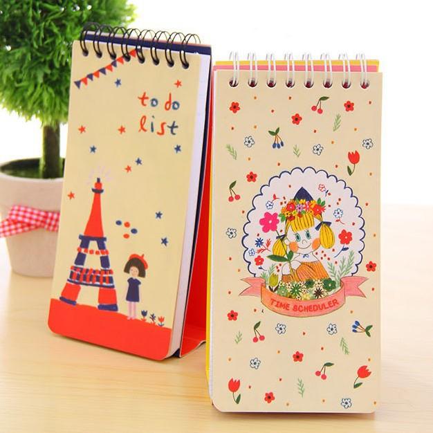 16*7.8cm MINI Calendar Notes Book Desk Diary Book Cute Stationery Office Supplies 10pcs/lot SH216(China (Mainland))