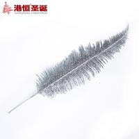 Christmas tree decoration 37cm silver powder christmas branches rattan 10g