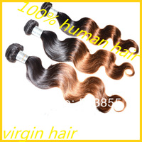 Wholesale Queen Hair 5A Peruvian Virgin Hair Body Wave 100% Unprocessed 4 or 3pcs Lot Remi Ombre Hair Extension Wavy Weft Weave
