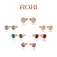 ROXI Christmas gift classic Genuine Austrian Crystals Stud earrings,Gift to girlfriend 100% hand made,2020014210