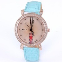 Holiday sale UK flag watch fashion crystal women ladies wholesale wrist quart watch new arrival rhinestone free shipping