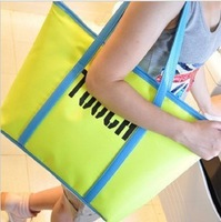 free shipping 2013 touch color block letter neon casual bag big bag shopping bag 249