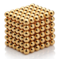 Buckyball Neocube 5mm Diameter 216pcs Funny Magnetic Ball with Gold Coating-Free Shipping