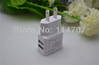 2.1A two USB port US USB Wall Charger AC Adapter for ipad/iphone/ipod and other digital product with free shipping