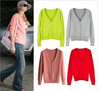 13 Candy Colors Fashion Autumn 2013 New Classic Women Sweater Knitted Long Sleeve Cardigan Outerwear Sweater