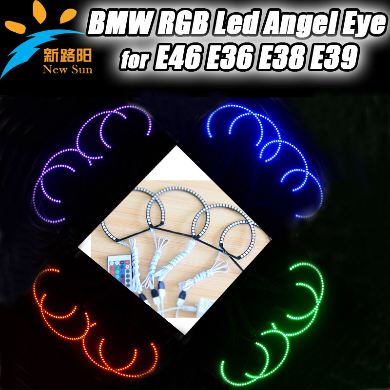 Неоновые кольца Angel Eyes Newsun 5050 SMD RGB BMW E46, LED , Multi RF