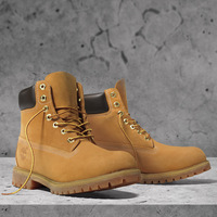 2013 New Brand Winter Genuine Leather shoes men outdoor yellow boots men full fabric nubuck cowhide waterproof boots hiking shoe