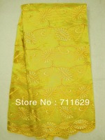[Free shipping]Organza lace,African lace fabric,Yellow color,Nigeria lace fabric,Grench lace High Quality Latest flower design