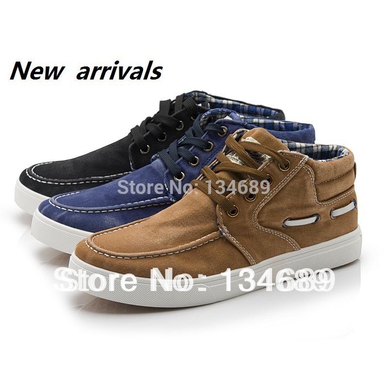 brown-Korean-denim-style-new-2013-Mens-Sneakers-fashion-shoes-men jpg