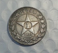 Russia 1922 Rouble Coin COPY FREE SHIPPING