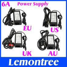 120CM 6A 12V US EU UK AU Cord Plug Power Supply Transformer For RGB White 5050 3528 LED Strip Light Cristmas Decoration(China (Mainland))