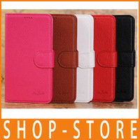 Luxury Wallet with Stand PU Leather Case for Samsung Galaxy Note 3 III N9000 Phone Bag Cover with Card Holder, Free Shipping