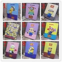 Precious Milk Dad  case cover  for ipad mini  Despicable me for ipad mini Retina case Minion Cartoon Leather Cover