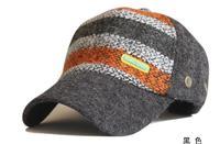 Free shipping season hit color yarn baseball cap leisure outdoor sun warm cloth cap can be adjusted