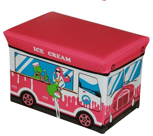 Free Shipping Popular Foldable Leather Storage Box Home Organizer Kid Bench(China (Mainland))