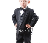 boy's  Formal Party Tuxedo suit Wedding suits Groom Suit Jacket+Pants+bow tie+Vest+shirts Dress Suit 5 pcs set 5sets/lot #3461