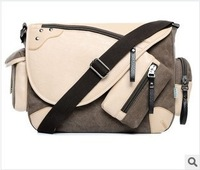 Flower princess with the new 2013 oblique cross tide bag shoulder bag canvas bag han edition men and women leisure bag