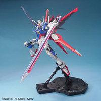 GUNDAM ROBOT 1:100 MG011 SEED DESTINY  high power pulse Strike Gundam attached wiper military robot Toy bricks War model 20cm