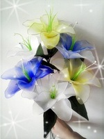 Free Shipping Beautiful fake DIY Lily flowers