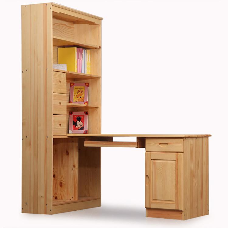 grenen massief hout hoek computer tafel een stuk bureau massief hout boekenkast eenvoudige