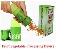 Free shipping Super Vegetable & Fruit Slicer Twister Easy Garnish Veggie Processing Device Vegetable Shredder Grater 1 pcs
