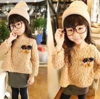2013 Hitz dress \ false 2 woolen sweater \ children thickened dress \ free shipping