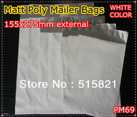 [cnklp]-MATT WHITE POLY MAILERS BAGS ENVELOPE 155x275MM external size