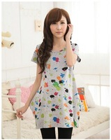 Maternity t-shirt maternity clothing cotton top fashion printing