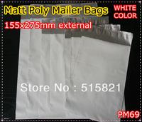 [PM69]-MATT WHITE POLY MAILERS BAGS ENVELOPE 155x275MM external size - 50PCS