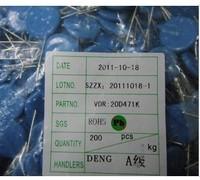 Zov varistor 20d471k 470v 20d-471k p 20mm 250 bag plug-in