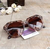 New Arrival Star Style Leopard Print Oversized Cat Eye Frog  Men Women's Sunglasses Brand Designer Free Shipping