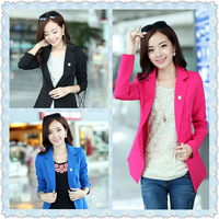 fashion long-sleeve slim waist slim elegant women's small suit jacket