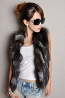 Fur coat 2013 autumn and winter women fox fur vest short design